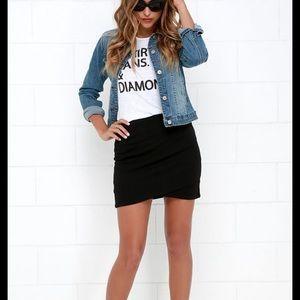 Black Zara Mini Pencil Skirt